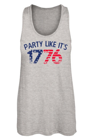 "Grey ""Party Like It's 1776"" Tank"