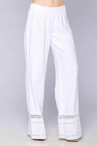 All in the Detail White Linen Pants