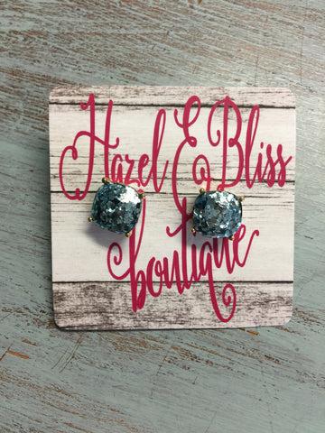 Bliss Bling Glitter Studs
