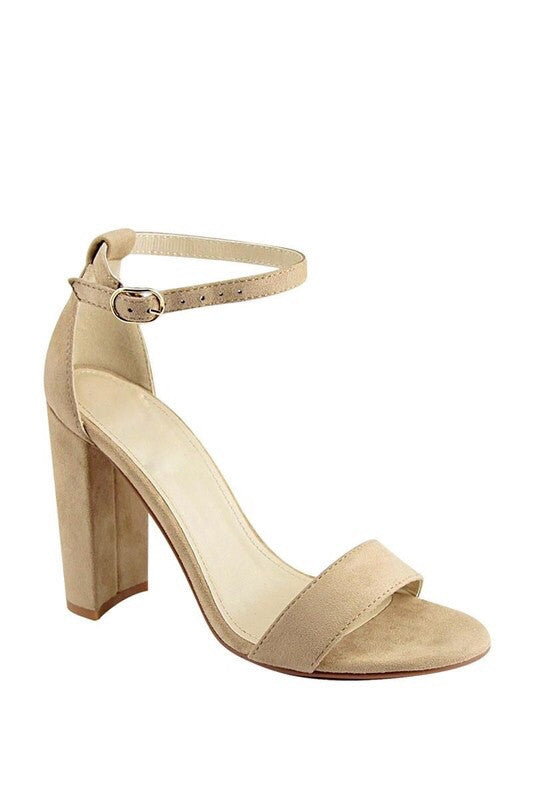 Nude Meadow Ankle Strap Heel
