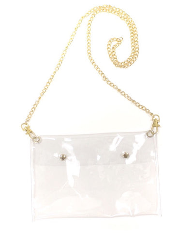 Clear Envelope Crossbody Purse