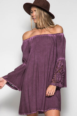 54e2dcff8be4 Dark Purple Off the Shoulder Dress – Hazel and Bliss Boutique