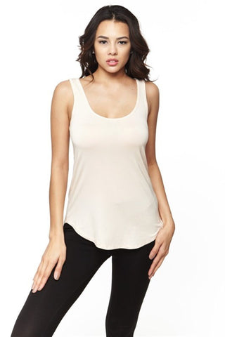 Ivory Modal Scoop Neck Tank