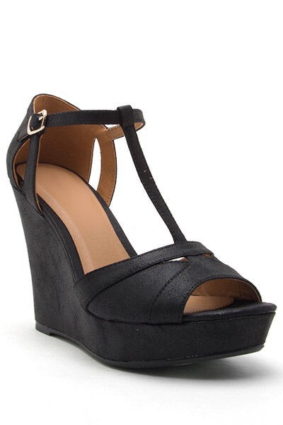 Nola Black Wedge