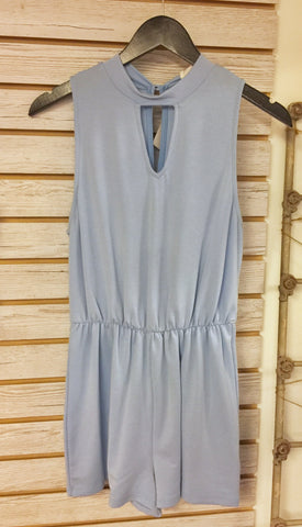 Baby Blue Knit Romper