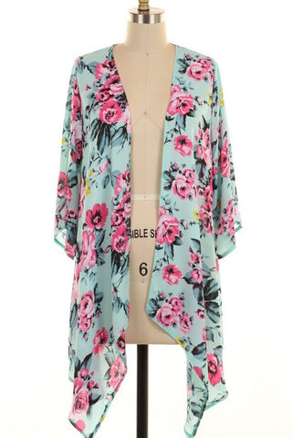 Flaunt Your Floral Mint Cardigan