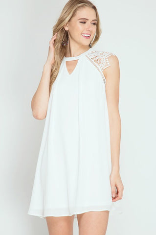 79a123175e6 Off White Lace Cap Sleeve Dress – Hazel and Bliss Boutique