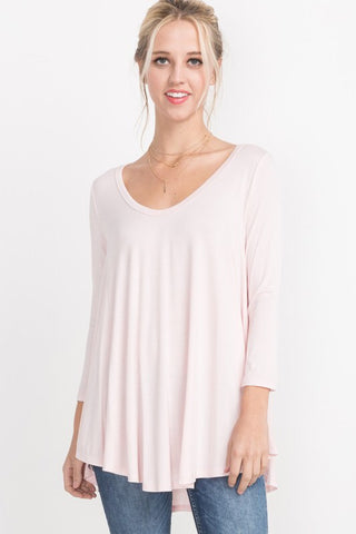 Cream Pink Bamboo Top
