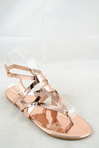 Rose Gold Maddy Sandals