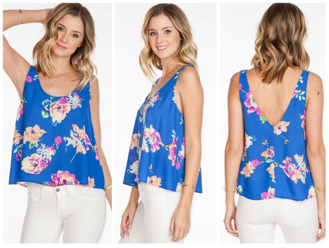 Floral Low Back Tank