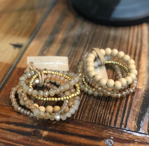 Beige Mix Bling Stack