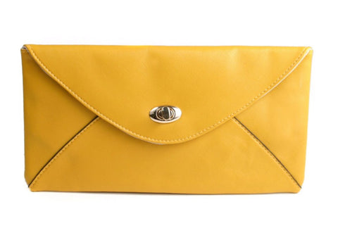 Mustard Envelope Clutch