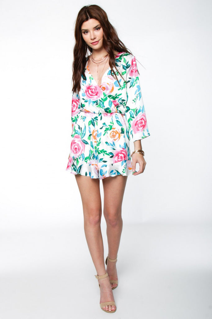Sweet Bliss Floral Romper
