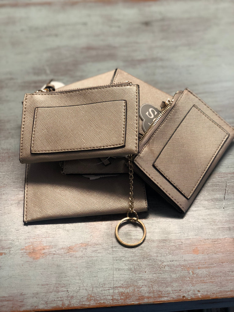 Dusty Gold Slim Card Case Keychain