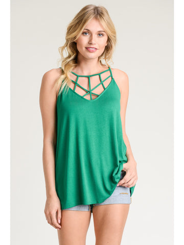 Emerald Criss Cross Tank
