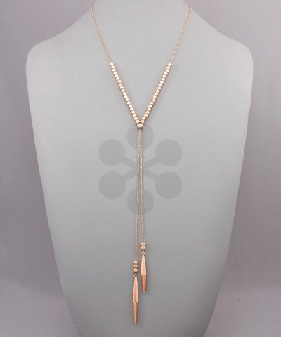 Adjustable Bead Drop Necklace