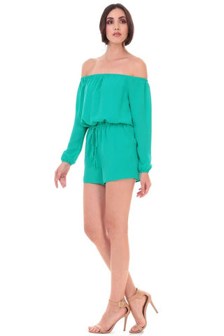 Summer Time Style Light Emerald Romper