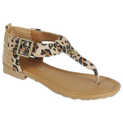 Aleece Leopard Sandals-Kid Size