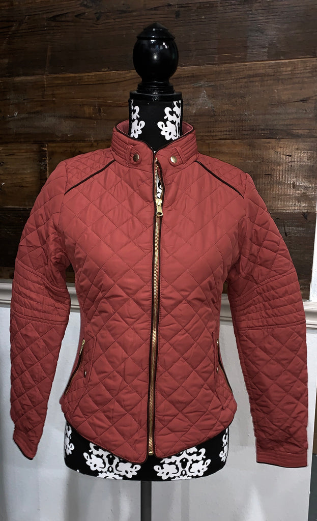 Red Bean Padded Jacket with Pockets