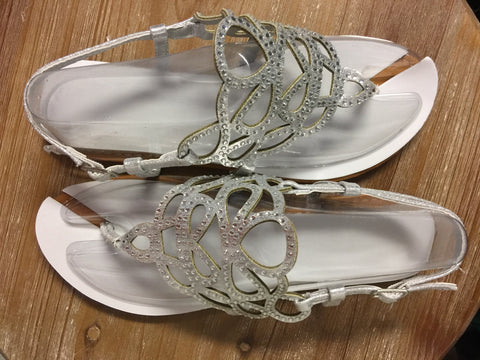 Silver Avery Sandals