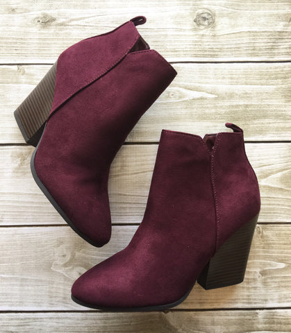 Vino Is My Color Heel Booties