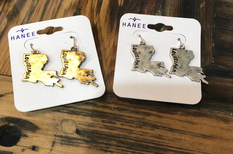 Louisiana Stamped Earrings