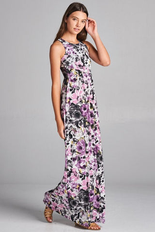 Purple Passion Floral Maxi