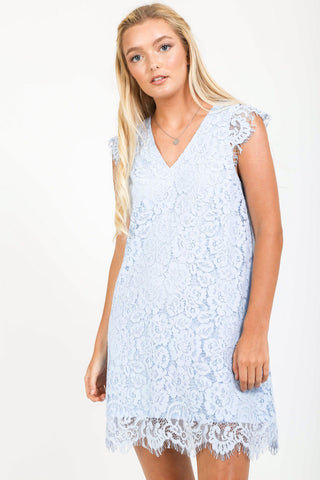 Baby Blue Is For You Lace Dress