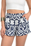 Navy Tribal Print Shorts