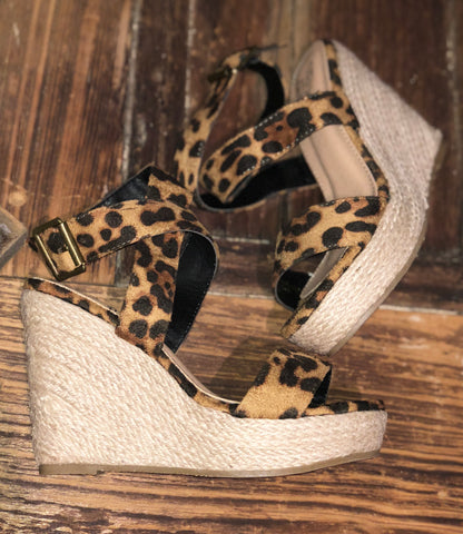 Wild and Sassy Leopard Wedges