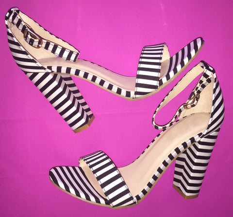 Don't Be Basic Stripe Heel