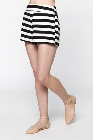 Sassy in Stripes Black/White Shorts