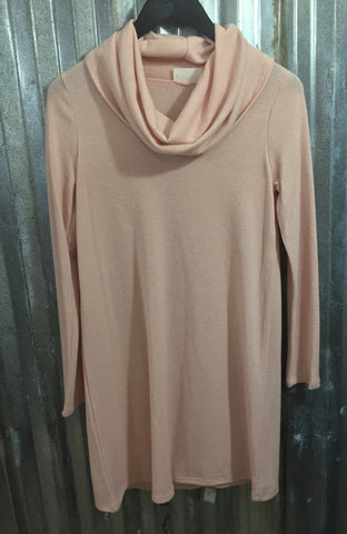 Baby Blush Cowl Neck Dress