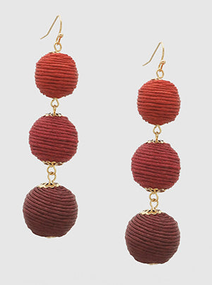 Ombre Thread Bauble Earrings