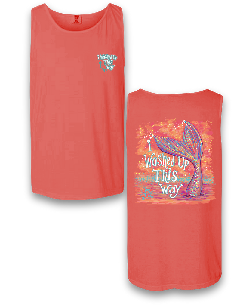 """Washed Up This Way"" Mermaid Comfort Colors Tank"