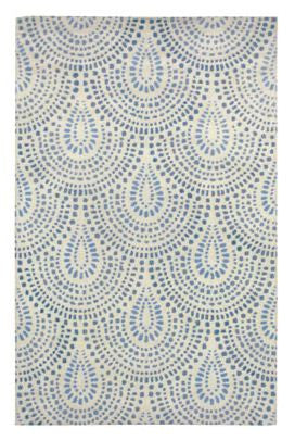 Bowden Scallop Blue Bell Rug