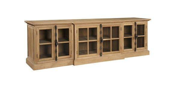 Washed Oak Entertainment Console