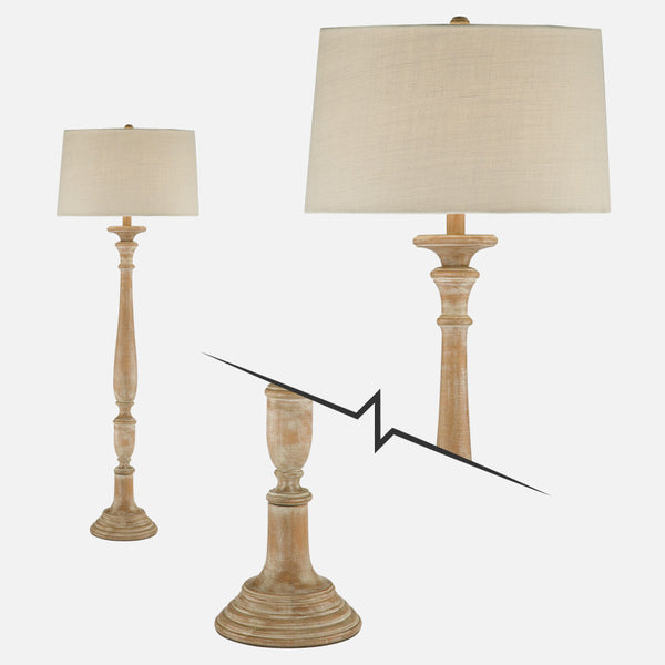 Solid Wood Floor Lamp