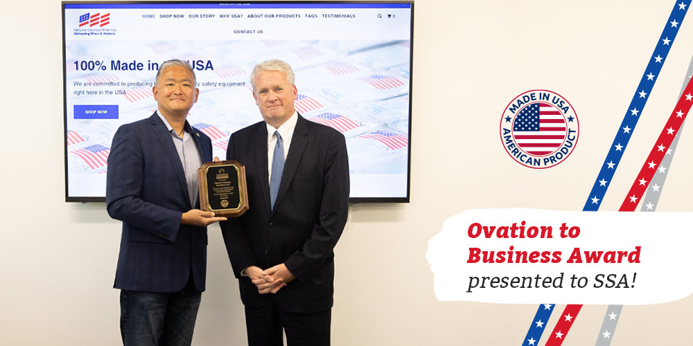 Jim Durkin Awards Local PPE Company with Ovation to Business Award SSA