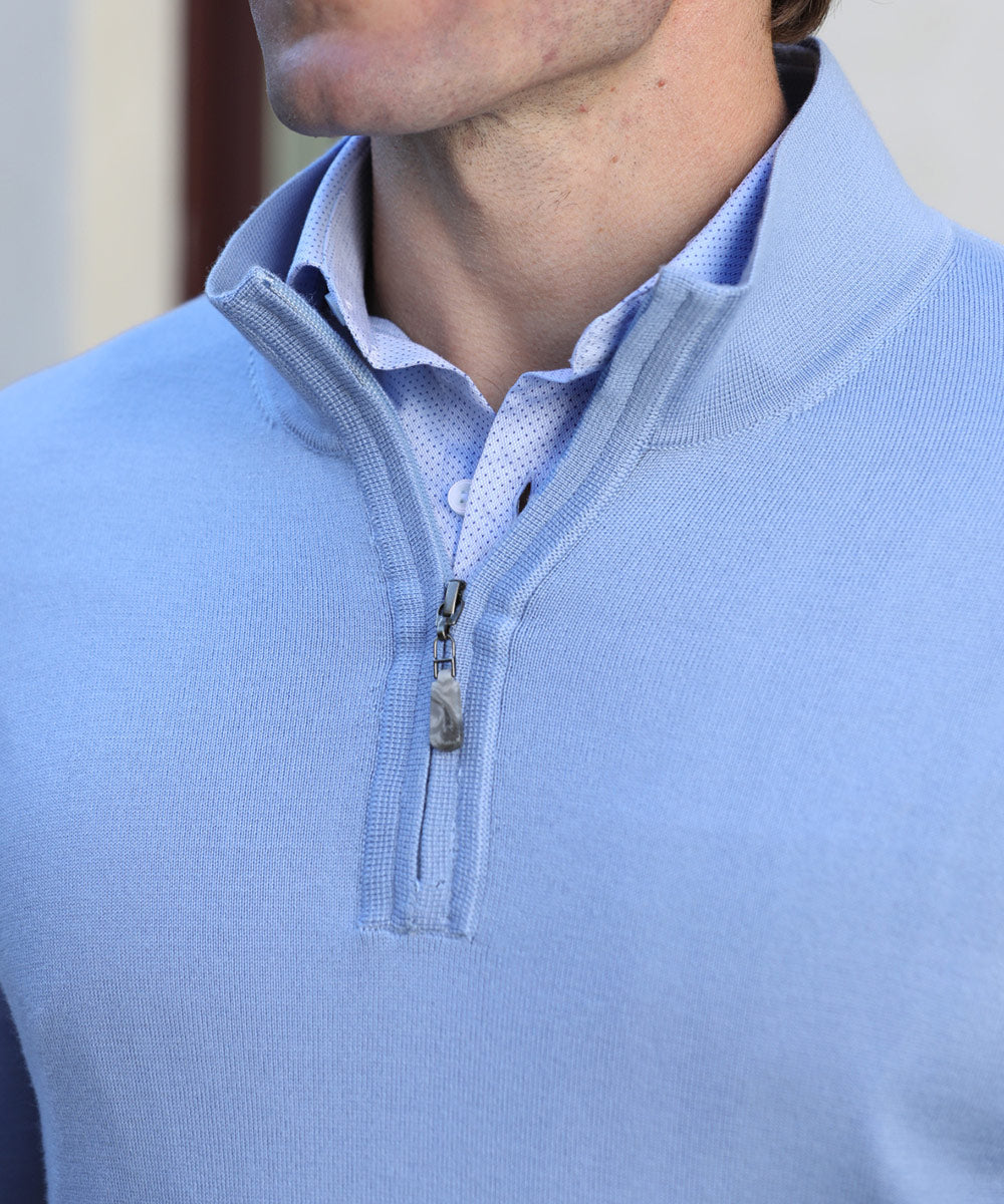 100% Merino Wool Quarter-Zip Sweater