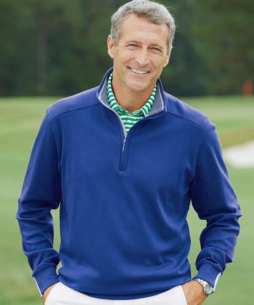 Leaderboard Pima Cotton Quarter-Zip Long Sleeve Pullover