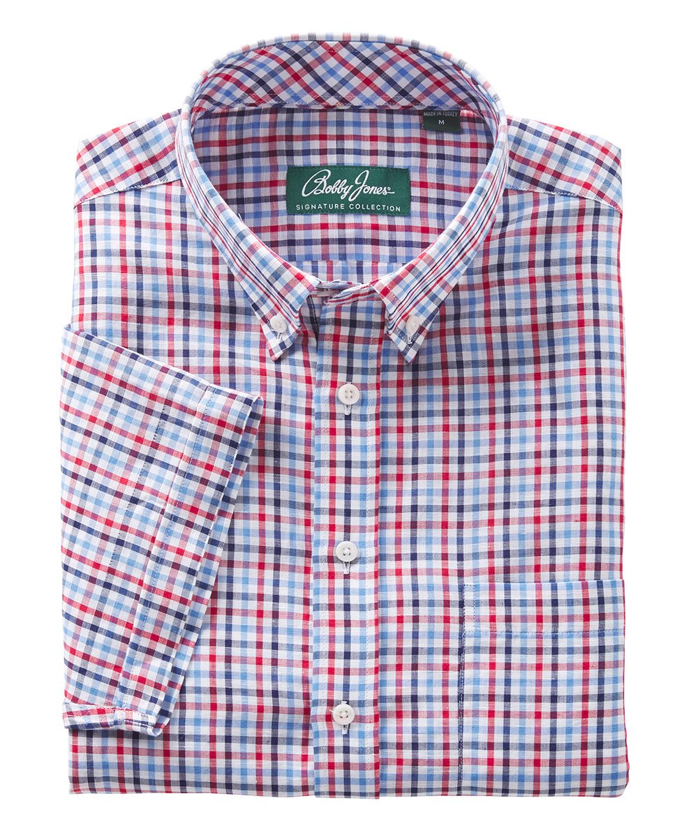 Signature 100% Cotton Picnic Check Short Sleeve Sport Shirt