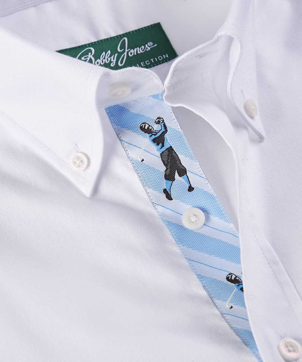 New & Improved Signature 100% Cotton Solid Oxford Button-Down Shirt