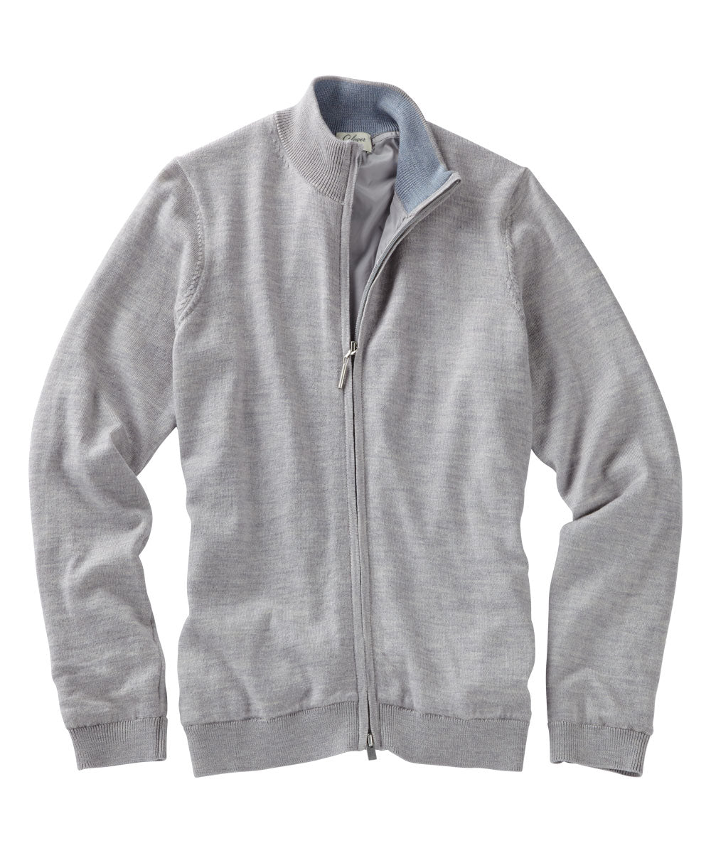 Women's Full-Zip Solid Wind Sweater