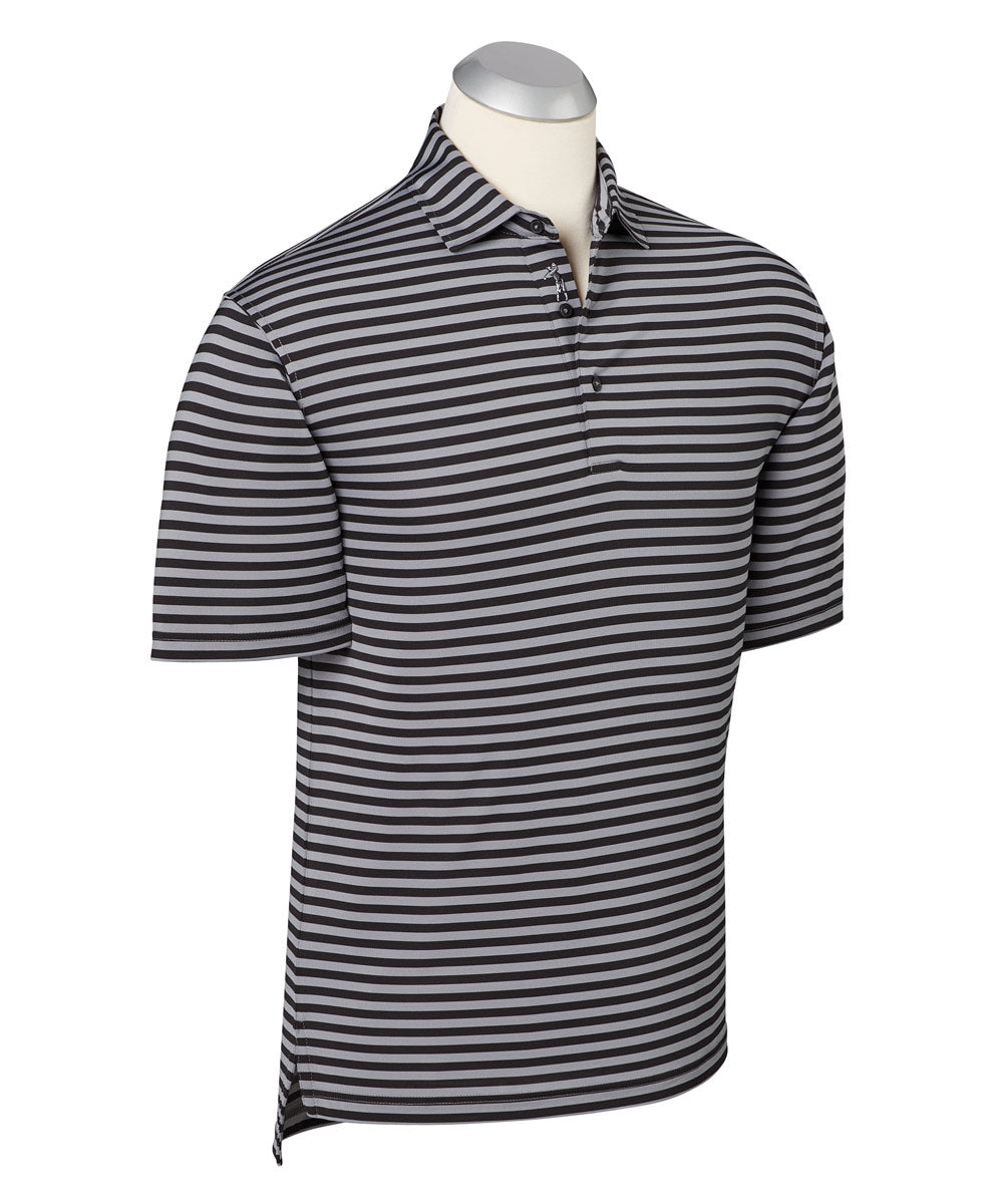 Performance Feed Stripe Short Sleeve Polo Shirt