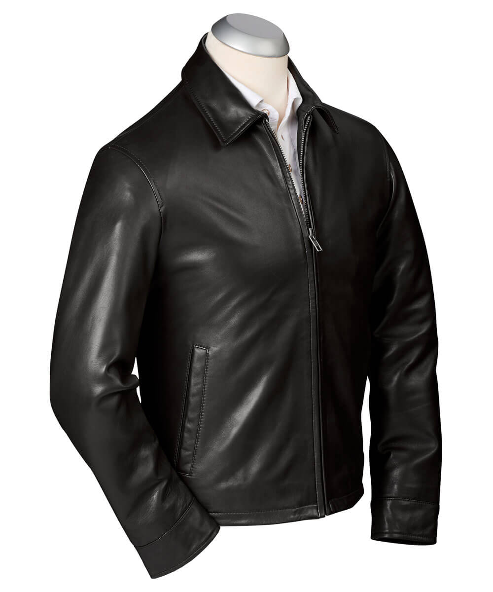 Classic Lambskin Leather Windbreaker