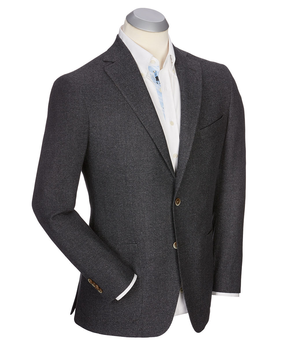 Andrew Brushed Wool Solid Sport Coat