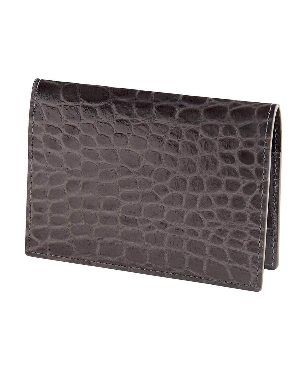 Signature Croc Embossed Leather Passport Case