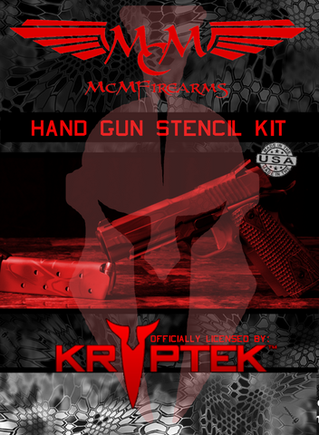 Licensed Kryptek handgun stencil kit