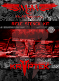 Licensed Kryptek rifle stencil kit